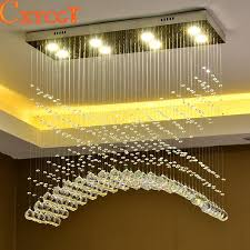 Led Ceiling Light Fixtures Modern Led Ceiling Light Fixture Rectangle Curtain Wave