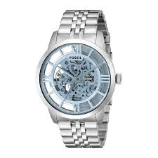 mens stainless steel bracelet watches images Shop fossil men 39 s me3073 townsman automatic skeleton dial jpg