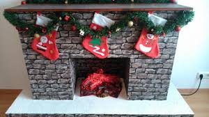 diy fake kamin fake fireplace for christmas youtube