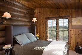 Rustic King Headboard Lodge Bedding Bedroom Rustic With Bedside Table Cabin Earth Tone