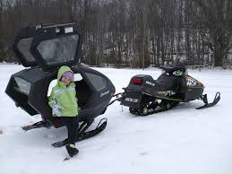 snowmobile carriage trailer wilderness compact and trek