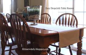 Table Runners Cover It Up Life Is Sew Daily 15 Minute Dropcloth Table Runner Tutorial