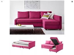 pink ikea friheten corner sofa bed with storage in torquay