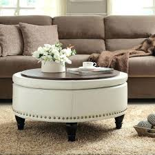 Ottoman Leather Coffee Table Large Footstool Coffee Table Living Storage Seat Leather