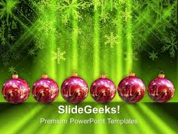3d christmas filigree with abstract background powerpoint