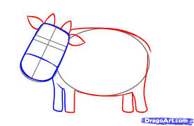 how to draw a simple cow step by step farm animals animals