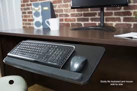 keyboard mount for desk mount kb03b vivo adjustable computer keyboard mouse platform