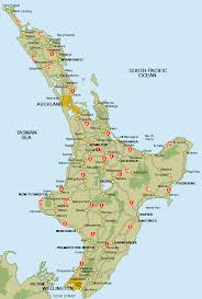 map of the road road map of the island of new zealand