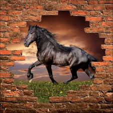 stickers trompe oeil mural sticker mural trompe l u0027oeil cheval art déco stickers