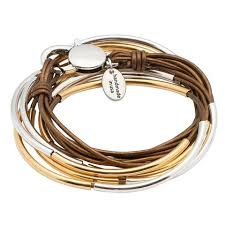 bracelet silver leather images Lizzy classic 4 strand gold silver lizzy james jpg