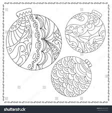 christmas fir tree ornament coloring page stock vector 499279009