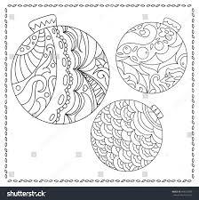 christmas fir tree ornament coloring stock vector 499279009