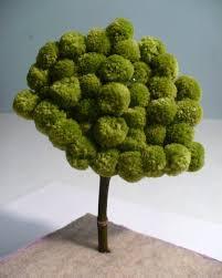 pom pom miniature tree pom pom tree miniatures and dollar store