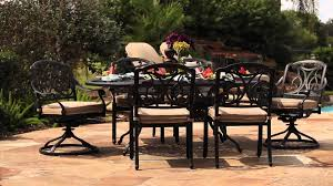Patio Dining Set by San Paulo 7 Piece Patio Dining Set Youtube