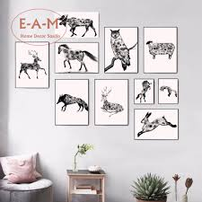 aliexpress com buy animals watercolor canvas art print painting