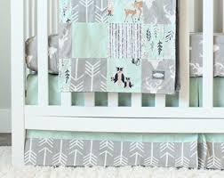 Nursery Bedding Set Woodland Crib Bedding Etsy