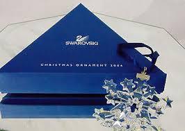 2004 swarovski crystal star snowflake christmas ornament le