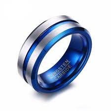 midnight blue wedding band tungsten rings slim wallet company