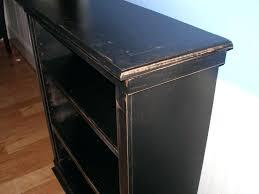 bookcase distressed black wood bookcase distressed black