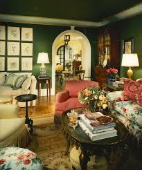 in a word gorgeous love the green walls pink floral and cream