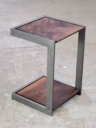 wood metal end table suspended wood and metal end table pinteres