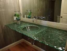 Glass Bathroom Sinks And Vanities Slumped Glass Vanity Contemporary Bathroom Sinks Seattle Glass
