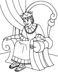 coloring page for king solomon king on throne free download best king on throne on clipartmag com