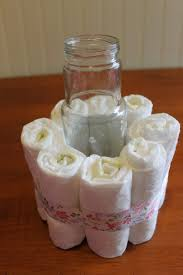 cake centerpiece diy baby shower centerpieces using diapers frugal fanatic