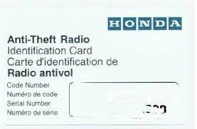 what is the code for honda pilot radio stereo code reset honda pilot honda pilot forums