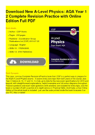 calaméo new alevel physics aqa year