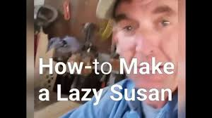 How To Make A Lazy Susan For A Kitchen Cabinet How To Make A Live Edge Lazy Susan Youtube