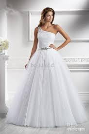 one shoulder wedding dress cheap 2013 one shoulder a line wedding dress doreen beaded tulle