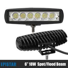 led security light bar 10pcs 6inch 18w led spot flood work light 12v 24v 4x4 4wd offroad