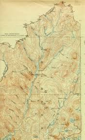 Map Of New England Area by Indian Stream Nh Vt Quadrangle