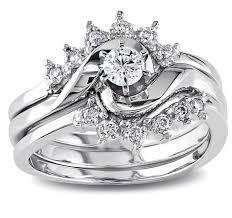bridal sets rings royal crown design trio wedding ring set for in white gold 12