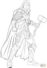 Avengers Thor Coloring Page Free Printable Coloring Pages Thor Coloring Page