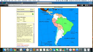 South And Central America Map by Sheppard Software South And Central America 100 27 Sec Youtube