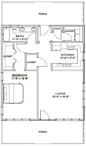 Storage Building Floor Plans 28x32 House 28x32h1 895 Sq Ft Excellent Floor Plans Log