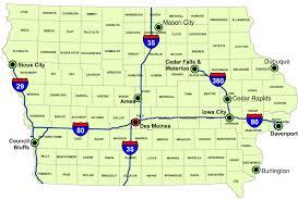 Boone Map Map Of Iowa Map Of Major Interstate Highways Worldofmaps Net