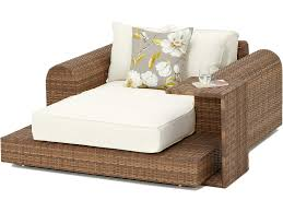 large garden daybed armchair natural rattan outdoor daybed