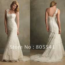 lace one shoulder wedding dress 100 photo free shipping royal gown halter lace