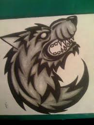 tribal snarling wolf design by imkihca on deviantart