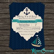 baby boy shower invitations nautical baby boy shower invitation kindred creations