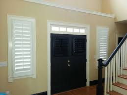 shutters wood white black door entry jpg