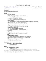 General Laborer Resume 100 Sanitation Worker Resume Professional Child Protection