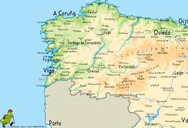 Map Of Spain With Cities by Vigo Map