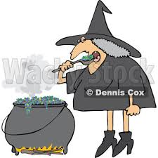free halloween clipart witch cauldron halloween witch eating over her cauldron royalty free vector