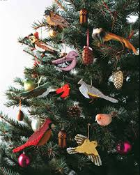 skillful design bird christmas tree ornaments exquisite polish art