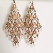Pink Chandelier Earrings Jewelry Blush Pink Chandelier Earrings Poshmark