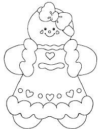gingerbread man printable coloring gingerbread coloring all